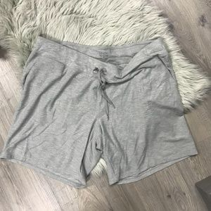 CK Plus Size Cuffed Shorts, Pearl Grey Heather